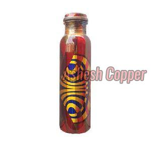 Colorful Printed Copper Bottle