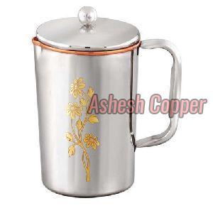 Silver Coated Copper Jug