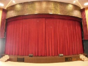 Round Motorized Stage Curtain