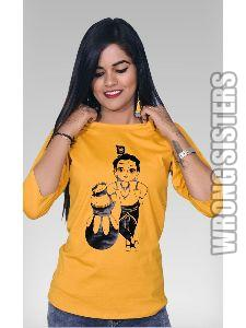 Makhanchor Printed Ladies T-shirt