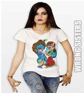Radha Krishna Printed Holi T-shirt