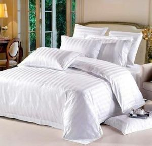 Cotton Satin Stripe Bed Sheet