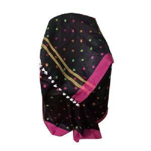 Black Printed Linen Saree
