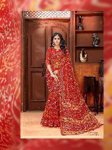 Cotton Silk Printed Sarees