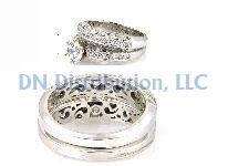 0.54 Ct Diamond & 18KT White Gold Ring Set
