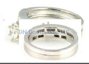 1 Ct Diamond & 18KT White Gold Ring Set