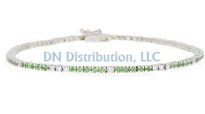 Diamond Emerald Tennis Bracelet