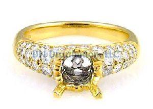 1.00 Ct. Diamond & 18KT Yellow Gold Semi Mount Ring