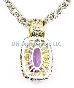 Sterling Silver Natural Amethyst Pendant