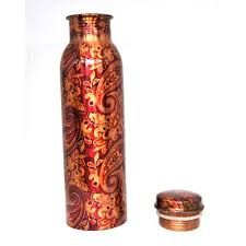 Designer Printed Copper Bottle