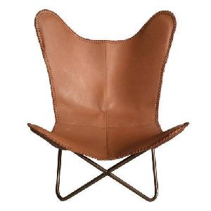 Brown Iron Butterfly Chair