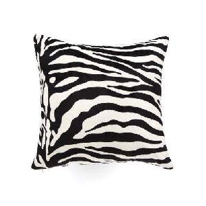 Zebra Print Leather Bed Cushions