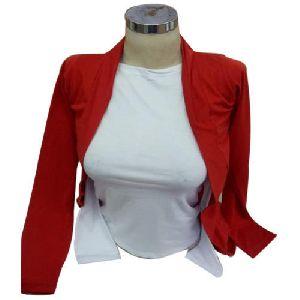 Girls Red Full Sleeve Top