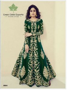 Embroidered Melbourne Silk Gown
