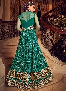 Embroidered Net Gown