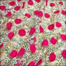 Embroidered Designer Fabric