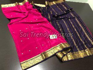Mysore Crepe Silk Saree