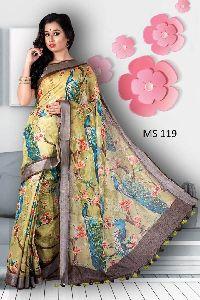 Mirror Work Cotton Saree
