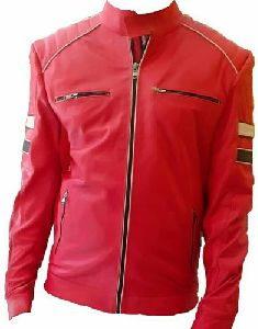 Mens Red Leather Jacket