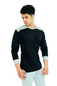 Mens Black Full Sleeve T Shirt