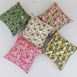 Suzani Hand Block Print Premium Cushion Cover Set