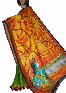 Murshidabad Printed Silk Saree