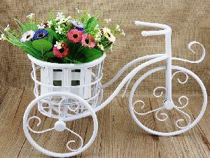 iron cycle planter pot