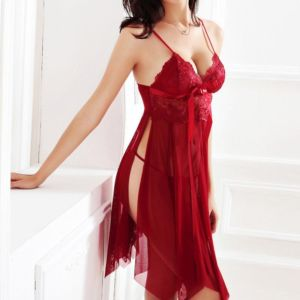 Ladies Red Lingerie Set