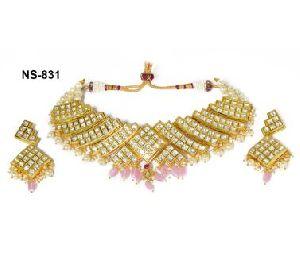 NS-831 Kundan Bridal Necklace Set