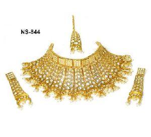 NS-844 Kundan Bridal Necklace Set