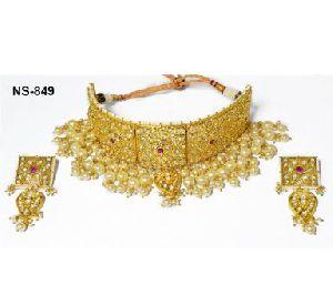 NS-849 Kundan Bridal Necklace Set