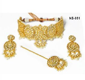 NS-851 Kundan Bridal Necklace Set