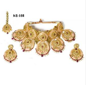 NS-855 Kundan Bridal Necklace Set