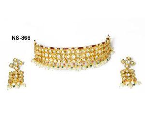 NS-866 Kundan Bridal Necklace Set