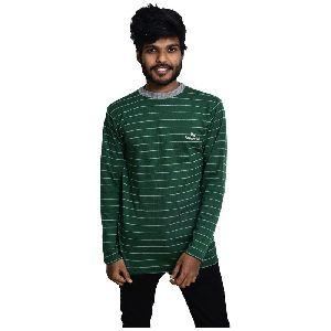 Men's Full Sleeve Round Neck Lining T-Shirt