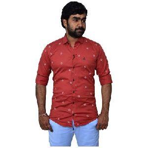 Men's Printed Regular Fit Shirt