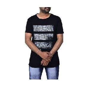 Men's Short Sleeve Collar Neck Printed T-Shirt