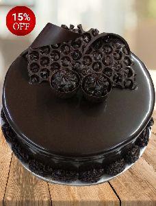 Double Choco Truffle Cake