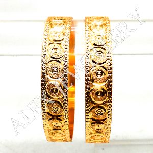 Latest Design Gold Plated Shagun Bangles