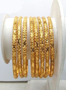 New Design Gold Plated Shagun Bangles