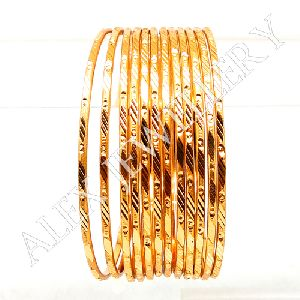 Stylish New Simple Design Gold plated Shagun Bangles
