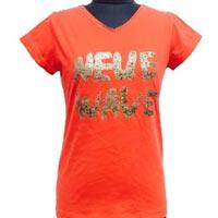 single jersey t shirt with glitter print