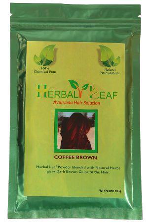 Herbal Leaf Coffee Brown Hair Powder