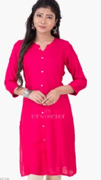 Pleated Cotton Shirt Style Kurti