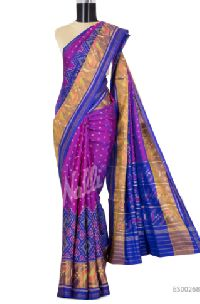 Purple Rajkot Patola Silk Saree