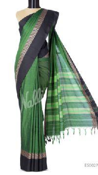 Work Green Narayanpet Cotton Saree