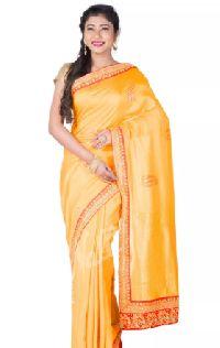 Yellow Banaras Silk Saree