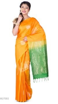 Yellow Dual Tone Coimbatore Silk Saree