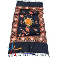 Wool Cashmere Embroidered Shawls