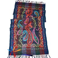 Wool Jacquard Embroidered Shawls